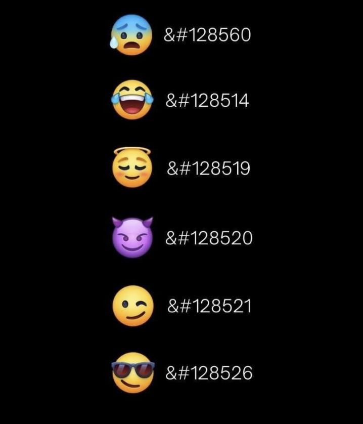 Emojis HTML